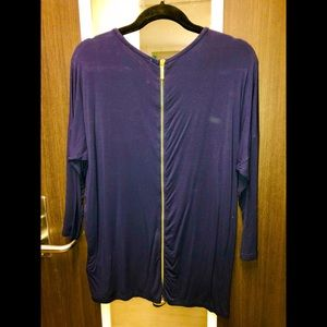 Blue Blouse with zipper down back